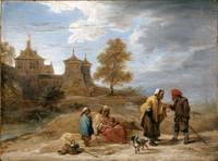 David Teniers the Younger~Gypsies in a Landscape