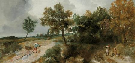 David Teniers the Younger~Hilly landscape with res