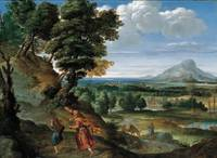 Domenichino (Domenico Zampieri)~Abraham Leading Is