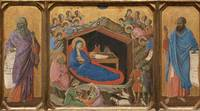 Duccio~The Nativity with the Prophets Isaiah and E