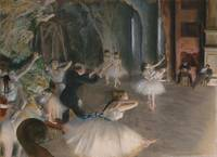 Edgar Degas~The Rehearsal Onstage
