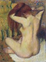 Edgar Degas~Woman Combing Her Hair