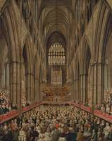 Edward Edwards~Interior View of Westminster Abbey