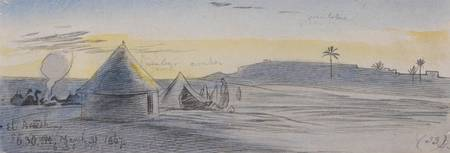 Edward Lear~El Areesh, 630 pm, 31 March 1867 (33)