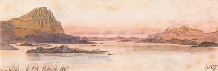 Edward Lear~Near Tafa, 600 pm, 16 February 1867 (5