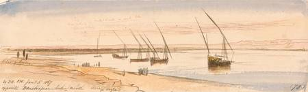 Edward Lear~Opposite Beni Hassan, looking north