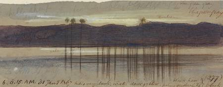 Edward Lear~Philae, 600-615 am, 31 January 1867 (2