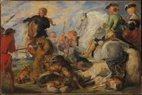 Edwin Landseer~Copy after Rubens's Wolf and Fox Hu