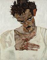 Egon Schiele~Self-Portrait with Lowered Head