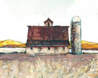 Country Barn and Silo - California Gold