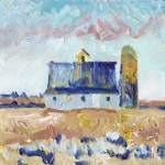 Rural Country Barn and Silo in the Field by RD Riccoboni