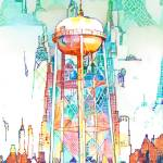 Water Tower - Industrial Evolution by RD Riccoboni