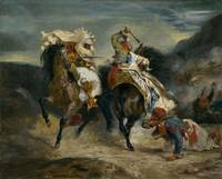 Eugène Delacroix~The Combat of the Giaour and Hass
