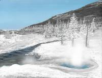 Yellowstone Winter Hot Spring
