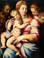 Francesco de' Rossi~Holy Family with Saint John th