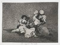 Francisco Goya~The women give courage (Las mugeres