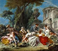 Francois Boucher~The Bird Catchers