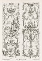 Francois de Cuvilliés~Two Upright Panels