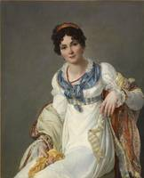 Francois Mulard~Portrait of a Lady in Fashionable