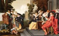 Frans Hals, Dirck Hals~Music-Making Company on a T
