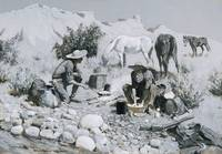 Frederic Remington~Prospectors Making Frying-Pan B