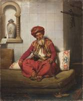 Horace Vernet~Turk with hookah