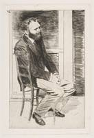 Édouard Manet, Edgar Degas~Manet Seated, Turned to