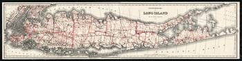 Long Island Map 1892, A Digitally Restored Histori