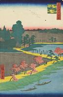 Hiroshige~Azuma Shrine and the Entwined Camphor (A