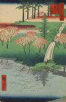 Hiroshige~Chiyogaike Pond, Meguro, No. 23 in One H