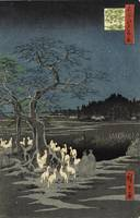 Hiroshige~Fox Fire on New Year's Eve at Garment Ne