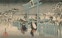 Hiroshige~Gion-sha setchû (Gion Shrine in Snow)