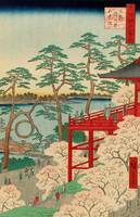 Hiroshige~Kiyomizu Hall and Shinobazu Pond at Ueno