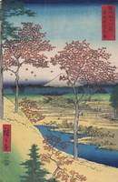 Hiroshige~Meguro's Twilight Hill in the Eastern Ca