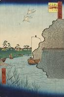 Hiroshige~Scattered Pines, Tone River