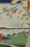 Hiroshige~Suijin Shrine and Massaki on the Sumida