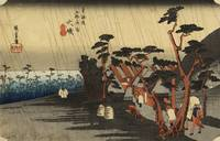 Hiroshige~The Sadness of the Rain, Oiso, from the