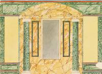 Frederick Crace~Wall Elevation with Marbled Niche