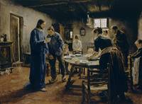Fritz von Uhde~The Mealtime Prayer