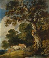 Gainsborough Dupont~A Wooded Landscape with Cattle