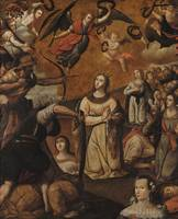 Gaspar de Figueroa~Martyrdom of Saint Ursula and H