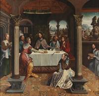 Gaspar Vaz~Christ at the home of Martha and Mary