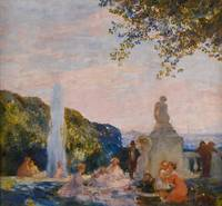 Gaston La Touche~View of the Eiffel Tower from the