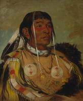 George Catlin~Sha-có-pay, The Six, Chief of the Pl