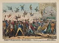 George Cruikshank~Shuttlecocks and Mackerel, or Me