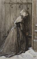 George Henry Burton~Woman at Church Door