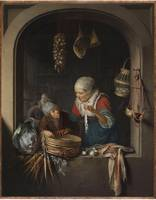 Gerrit Dou~Herring Seller and Boy