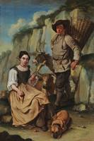 Giacomo Ceruti~Spinner and farmer with a basket