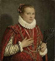 Giovanni Battista Moroni~Portrait of a young Woman