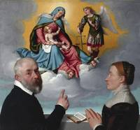 Giovanni Battista Moroni~Two Donors in Adoration b